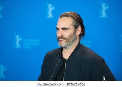 Berlin, Germany - February 20, 2018: US actor Joaquin Phoenix poses at the 'Don't Worry, He Won't Get Far on Foot' photo call during the 68th Berlinale International Film Festival 2018