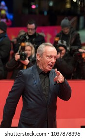 Berlin, Germany - February 20, 2018: German actor Udo Kier poses on red carpet before the 'Don't Worry, He Won't Get Far on Foot' premiere during the 68th Berlinale International Film Festival 2018