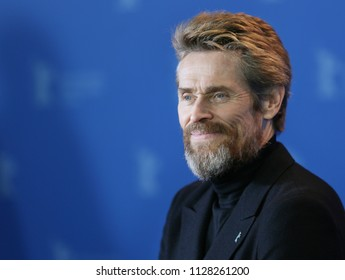 Berlin, Germany - February 20, 2018: Actor Willem Dafoe poses at the Hommage Willem Dafoe photo call during the 68th Berlinale International Film Festival Berlin at Grand Hyatt Hotel