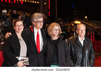 BERLIN, GERMANY - FEBRUARY 12? 2015: Actors Ruediger Vogler, Lisa Kreuzer, director Wim Wenders and actress Yella Rottlaender attend 'The American Friend'  screening during the 65th Berlinale