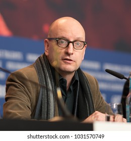 Berlin, Germany - February 21, 2018: American film producer, director, screenwriter, cinematographer, and editor Steven Soderbergh attends the 'Unsane' press conference during the 68th Berlinale 2018