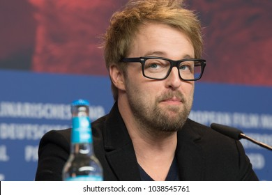 Berlin, Germany - February 21, 2018: US actor Joshua Leonard attends the 'Unsane' press conference during the 68th Berlinale International Film Festival 2018 at Grand Hyatt Hotel