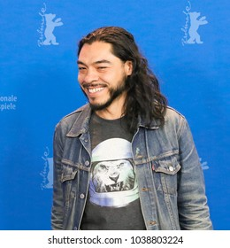 Berlin, Germany - February 22, 2018: Mexican actor Bernardo Velasco poses during a photo call for the film 'Museum' (Museo) presented in competition during the 68th edition of the Berlinale 2018