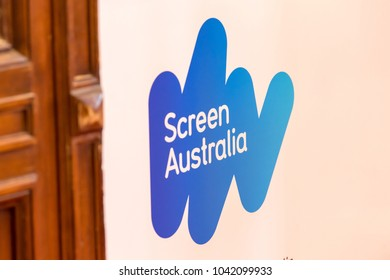 Berlin, Germany - February 22, 2018: Logo of Screen Australia, the Australian Federal Government's key funding body for the Australian screen production industry