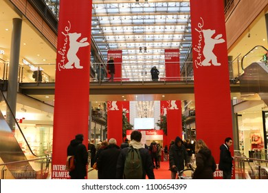 Berlin, Germany - February 22, 2018: Interior of the Berlinale Palast in Berlin or the Theater am Potsdamer Platz, the main venue of the Berlin International Film Festival every February