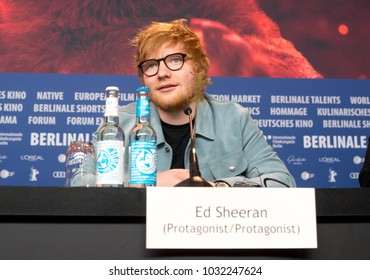 Berlin, Germany - February 23, 2018: English singer, songwriter, guitarist and record producer Ed Sheeran attends the 'Songwriter' press conference at 68th Berlinale Film Festival Berlin 2018