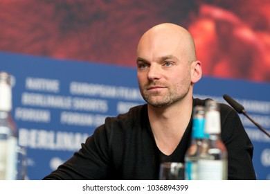 Berlin, Germany - February 23, 2018: German director and screenwriter Thomas Stuber attends the film 'In the aisles' (In den Gaengen) press conference during the 68th Berlinale Film Festival 2018