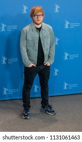 Berlin, Germany - February 23, 2018: English singer, songwriter, guitarist, and record producer Ed Sheeran poses at the 'Songwriter' photo call during the 68th Berlinale International Film Festival
