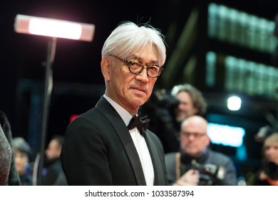 Berlin, Germany - February 24, 2018: Japanese musician, composer and member of the jury Ryuichi Sakamoto attends the closing ceremony during the 68th Berlinale International Film Festival 2018