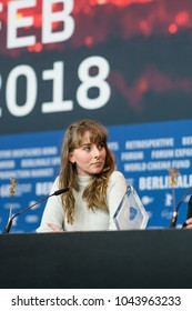 Berlin, Germany - February 24, 2018: Hungarian director Reka Buksi attends the movie 'Solar Walk' press conference during the 68th edition of the Berlinale Film Festival 2018