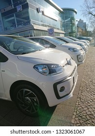 Berlin, Germany - February 24, 2019: Volkswagen up! car. The Volkswagen Up is a city car, part of the Volkswagen Group New Small Family (NSF)