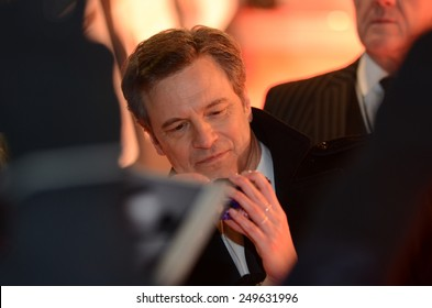 BERLIN - GERMANY - February 3: Colin Firth at the German premiere from Kingsman: The Secret Service at CineStar,Sony Center on February 3, 2015 in Berlin, Germany.
