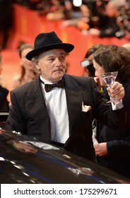 "BERLIN - GERMANY - FEBRUARY 6: Bill Murray at the 64th Annual Berlinale International Film Festival ""The Grand Budapest Hotel"" premiere at Berlinale Palast on February 6, 2014 in Berlin, Germany."