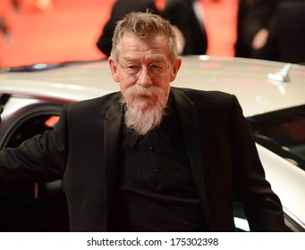 "BERLIN - GERMANY - FEBRUARY 6: John Hurt at the 64th Annual Berlinale International Film Festival ""The Grand Budapest Hotel"" premiere at Berlinale Palast on February 6, 2014 in Berlin, Germany."