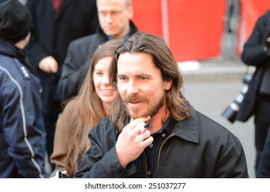 """BERLIN - GERMANY - FEBRUARY 8: Christian Bale at the 65rd Annual Berlinale International Film Festival """"Knight of Cups"""" at Berlinale Palast on February 8, 2015 in Berlin, Germany"""