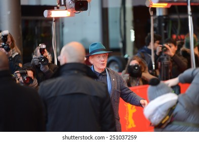 "BERLIN - GERMANY - FEBRUARY 8: Ian McKellen at the 65rd Annual Berlinale International Film Festival ""Mr. Holmes"" at Berlinale Palast on February 8, 2015 in Berlin, Germany"