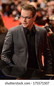"BERLIN - GERMANY - FEBRUARY 8: Matt Damon at the 64th Annual Berlinale International Film Festival ""The Monuments Men"" premiere at Berlinale Palast on February 8, 2014 in Berlin, Germany."