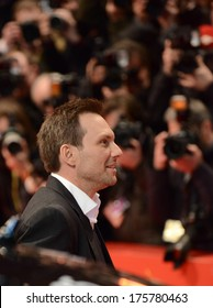 """BERLIN - GERMANY - FEBRUARY 9: Christian Slater at the 64th Annual Berlinale International Film Festival """"Nymphomaniac Volume I"""" premiere at Berlinale Palast on February 9, 2014 in Berlin, Germany."""