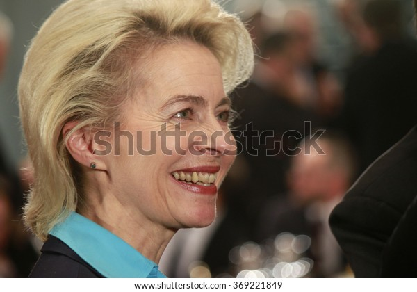 BERLIN, GERMANY - JANUARY 28, 2016: Ursula von der Leyen before a meeting with the German Chancellor in the Federal Chanclery in Berlin.