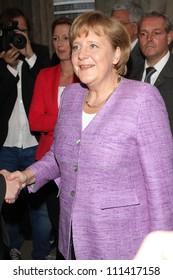 BERLIN, GERMANY - JULY 02: Chancellor Angela Merkel attends ZDF Summer Reception on July 2, 2012 in Berlin, Germany.
