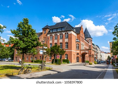 BERLIN, GERMANY - JULY 1, 2014: The Charite Universitatsmedizin Berlin, Europe's largest University clinic. Central Building of Campus Charite Mitte (CCM), situated on Chariteplatz 1 in Berlin