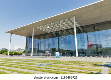 BERLIN, GERMANY - JULY 13, 2018: Paul Lobe Haus facade. It is administrative building belonging to Reichstag seat of the parliament. Berlin is the capital and largest city of Germany.