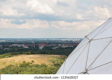 Berlin, Germany - july 2017: Abandoned NSA field station / listening station on Teufelsberg in Berlin, Germany
