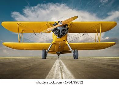 berlin, germany - july 24.07.2020 historical aircraft on a runway