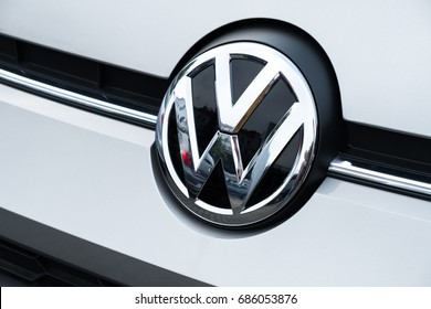 Berlin, Germany - July 27, 2017: Volkswagen motor company emblem. Volkswagen Group is a German automobile manufacturing group based in Wolfsburg, Germany, and founded in 1937