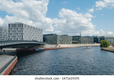 Berlin, Germany - July 27, 2019: Ministry of Education - Bundesministerium fuer Bildung in the Mitte district of Berlin