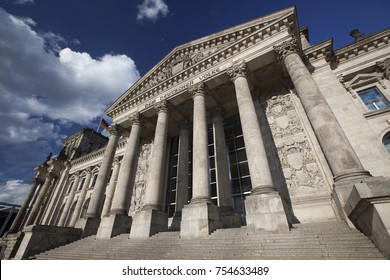 Berlin, Germany, July 28, 2017, the building of the Bundestag