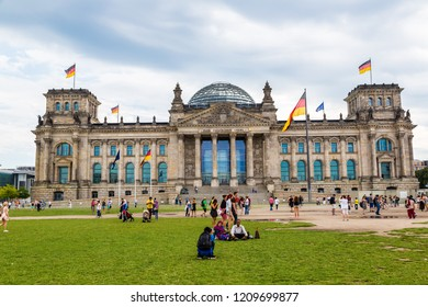 BERLIN, GERMANY - JULY 3, 2014: The Reichstag building in Berlin, Germany on July 3, 2014 It was opened in 1894 as a Parliament of the German Empire