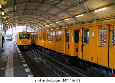 Berlin, Germany - July, 3, 2019: Berlin subway.