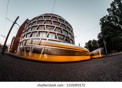 Berlin, Germany - Jun 7,2018: The Hackesches Quartier consists of two separate above-ground volumes. The complex is divided into seven visually different buildings.