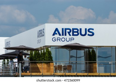 BERLIN, GERMANY - JUNE 03, 2016: Office Airbus Group. Exhibition ILA Berlin Air Show 2016