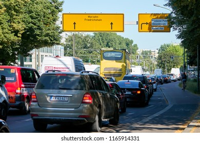 BERLIN, GERMANY – JUNE 07, 2018: Road traffic at rush hour in the city center of Berlin