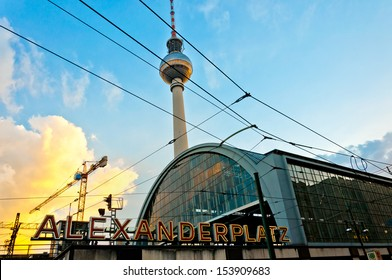 BERLIN, GERMANY - JUNE 07: Fernsehturm (Television Tower) located at Alexanderplatz in Berlin, Germany on June 07, 2013. The tower was built between 1965 &1969 by former German Democratic Republic