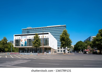 BERLIN, GERMANY – JUNE 09, 2018: The Cinema International in the Karl-Marx-Allee in Berlin Mitte. The cinema, which opened in 1963, has hosted the annual Berlinale since 1990.