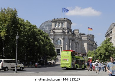 Berlin, Germany June 1 2019 Reichstag Building is the German government building