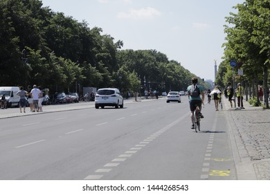 Berlin, Germany June 1 2019 Procession of cars in the streets of Berlin