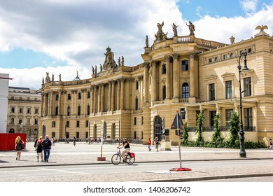 Berlin, Germany - june 21 2013: traditional architecture, city view.