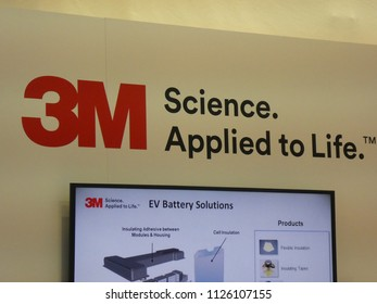 Berlin, Germany - June 21, 2018: 3M logo. The 3M Company is an American multinational conglomerate corporation producing  adhesives, abrasives, laminates, passive fire protection, protective equipment