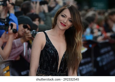 BERLIN - GERMANY - June 21: Anne Menden at the Europe premiere from Terminator Genisys at CineStar,Sony Center on June 21, 2015 in Berlin, Germany.