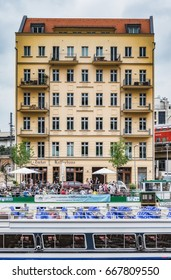 BERLIN, GERMANY - JUNE 24 2017: Berlin Government District. European Town and Inner City of the Capital of Germany at the river Spree