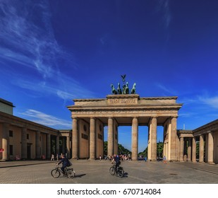 BERLIN, GERMANY - JUNE 26 2017: Berlin Inner City. European Town and Capital of Germany at the river Spree. Buildings in the inner City