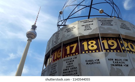 BERLIN, GERMANY - JUNE 29, 2018: A view of the TV Tower in Berlin, Germany.