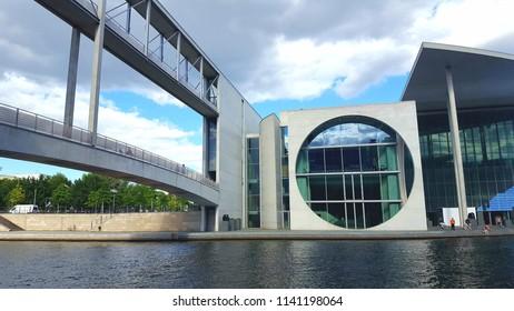 BERLIN, GERMANY - JUNE 30, 2018: The Marie-Elisabeth Lüders Building in Berlin, Germany.
