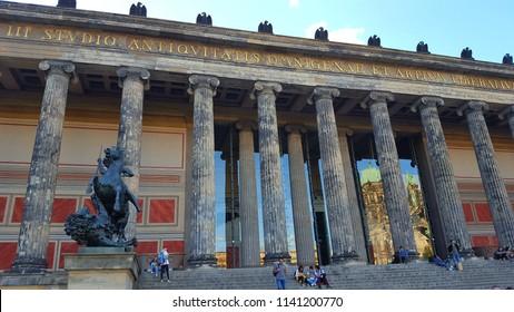 BERLIN, GERMANY - JUNE 30, 2018: The Altes Museum in Berlin, Germany.