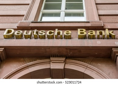 BERLIN, GERMANY - JUNE 30: the logo of the German bank DEUTSCHE BANK on jun 30 2016 in Berlin, Germany, Europe