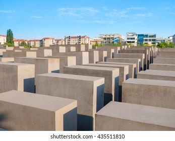 Berlin, Germany - June 5, 2016: Memorial of the Shoah.